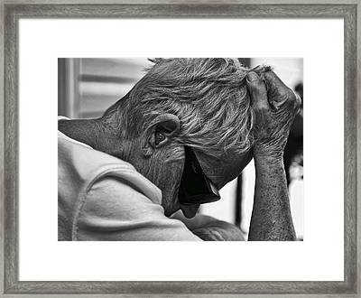 Misery Framed Print by Denise Romano