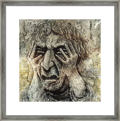 Misery Framed Print by Suzette Broad