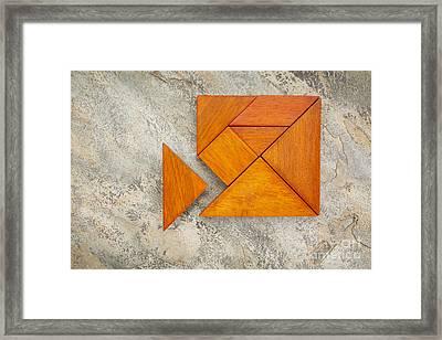 Misfit Concept With Tangram Framed Print