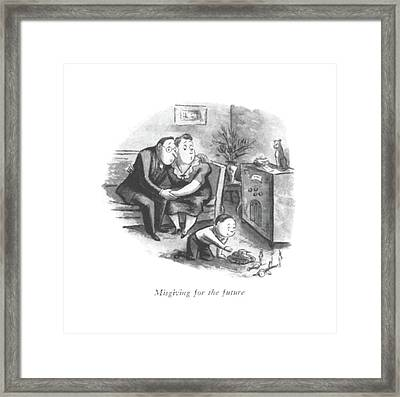 Misgiving For The Future Framed Print by William Steig