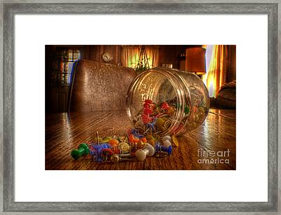 Mishap Of The Tic Tac Framed Print by The Stone Age