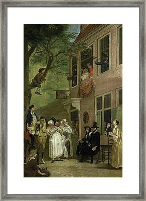 Misled, The Ambassador Of The Rascals Exposes Himself Framed Print by Litz Collection