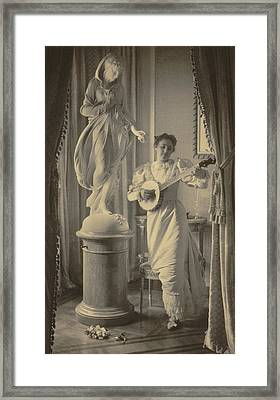 Miss Apperson Playing Banjo Framed Print