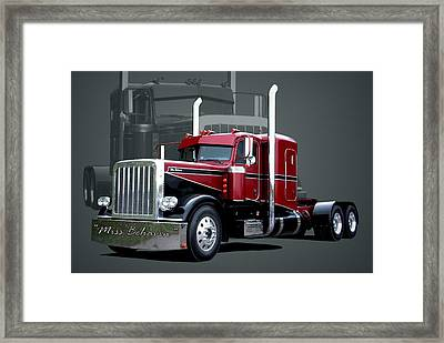 Miss Behavin 1990 Peterbilt Semi Truck Framed Print
