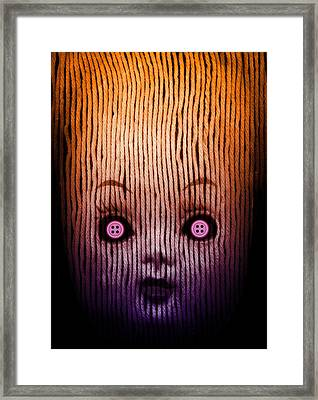 Miss Button Framed Print by Johan Lilja