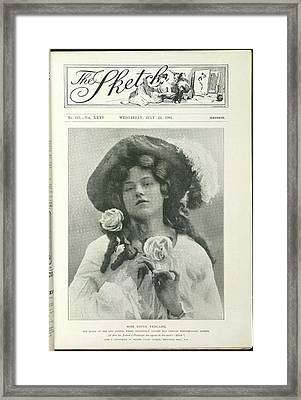 Miss Edith Yeoland Framed Print by British Library