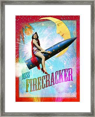 Miss Fire Cracker Framed Print