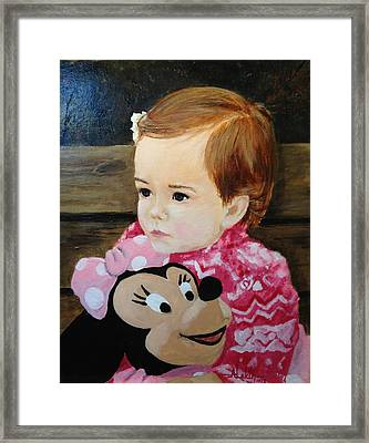 Framed Print featuring the painting Miss Haley by Alan Lakin