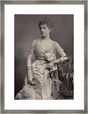 Miss Hope Temple Framed Print by Stanislaus Walery