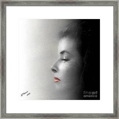 Miss Katherine Framed Print by Arne Hansen