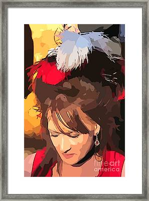 Miss Kitty Framed Print by John Malone