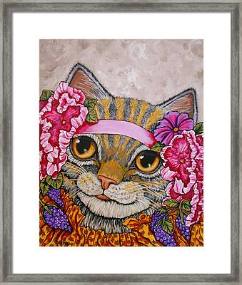 Miss Kitty Framed Print by Sherry Dole