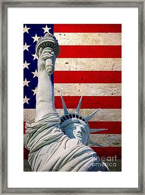Miss Liberty 2 Framed Print