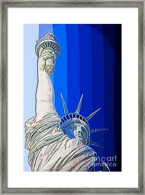 Miss Liberty Framed Print