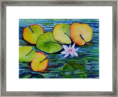 Whimsical Waterlily Framed Print