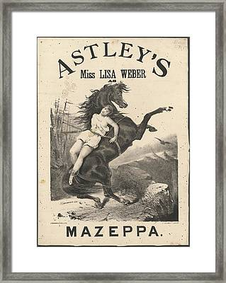 Miss Lisa Weber Framed Print by British Library