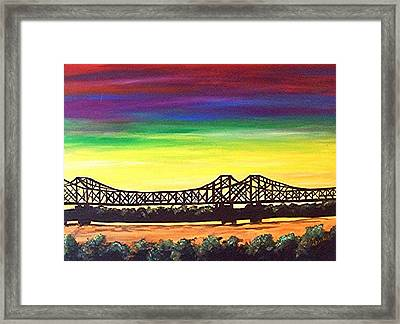 Miss -  Lou Bridge  Framed Print by Loraine Griffin
