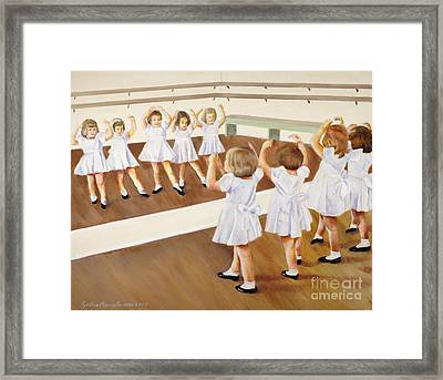 Miss Lum's Ballet Class Framed Print by Cynthia Parsons