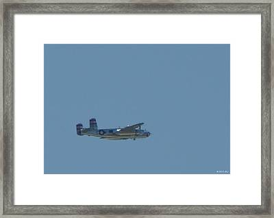 Miss Mitchell Wwii B25 Bomber Over Florida 21 April 2013 Framed Print