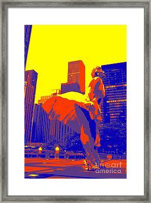 Miss Monroe Framed Print by David Bearden