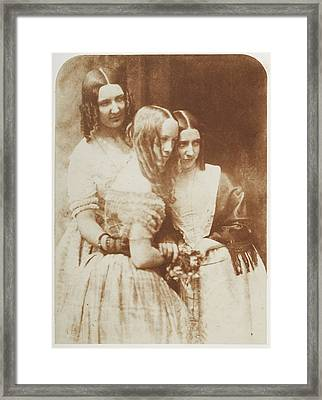 Miss Munro And Misses Graham Binney Framed Print by British Library