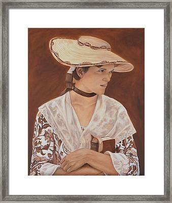 Miss Nichols Framed Print