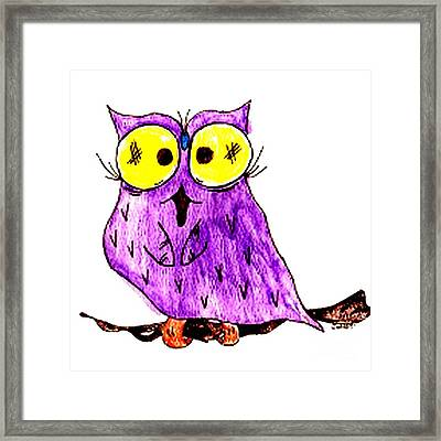 Miss Owl Framed Print by Donna Daugherty