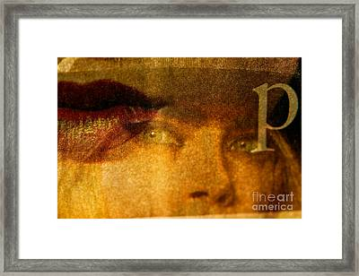 Miss P Framed Print