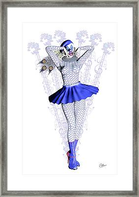 Miss Pierrette Singing Framed Print by Quim Abella