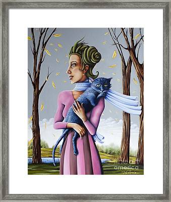 Miss Pinky's Outing Framed Print
