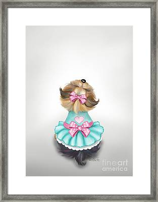 Miss Pretty Framed Print