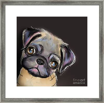Miss Pug Framed Print by Catia Cho