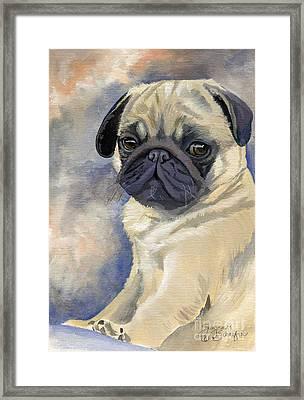 Miss Puggles Framed Print