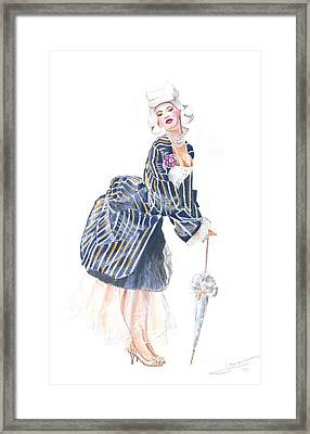 miss Ro co co Framed Print by Jovica Kostic