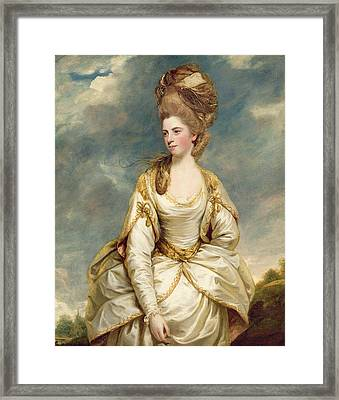 Miss Sarah Campbell Framed Print by Sir Joshua Reynolds