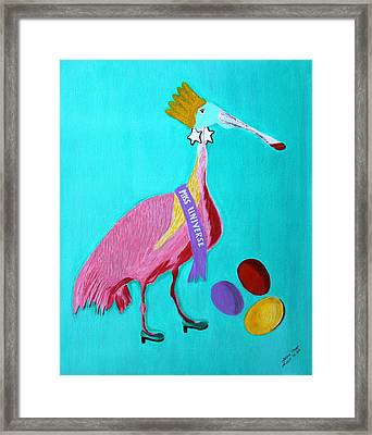 Miss Universe Framed Print by Lorna Maza