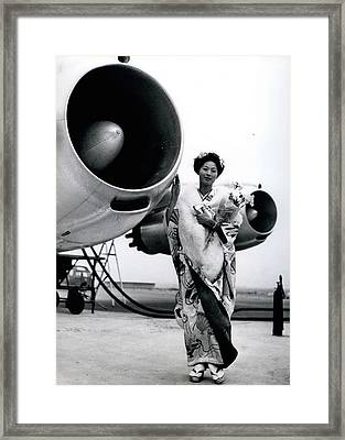 Miss Universe Opens Polar Route Of Air Franc Framed Print by Retro Images Archive