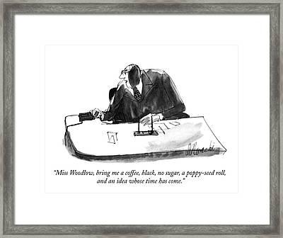 Miss Woodlow Framed Print by Joseph Mirachi