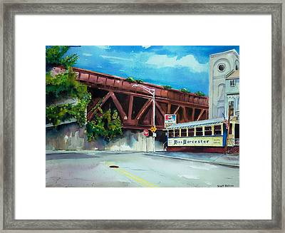 Miss Worcester Bridge Framed Print by Scott Nelson