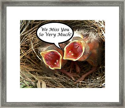 Miss You Greeting Card Framed Print by Al Powell Photography USA