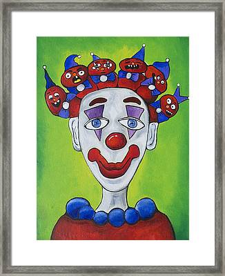 Miss.curly Clown Framed Print by Patricia Arroyo