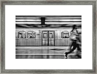 Framed Print featuring the photograph Missed It by Brian Carson