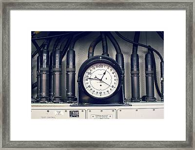 Missile Control Room Clock Framed Print by Jim West