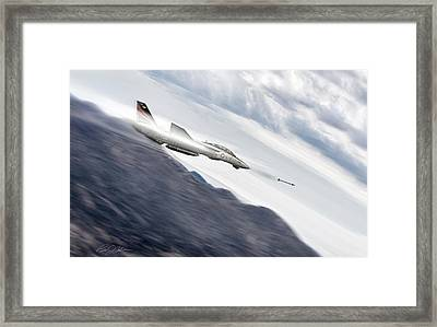Missile Lock F-14 Framed Print by Peter Chilelli