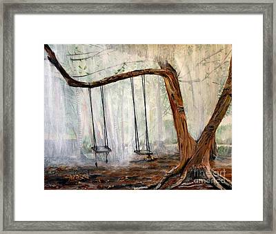 Missing Children Framed Print by Marilyn  McNish