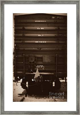 Missing It's Caboose Framed Print by Deborah Fay