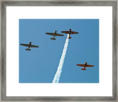 Framed Print featuring the photograph Missing Man Flyover by Allen Sheffield