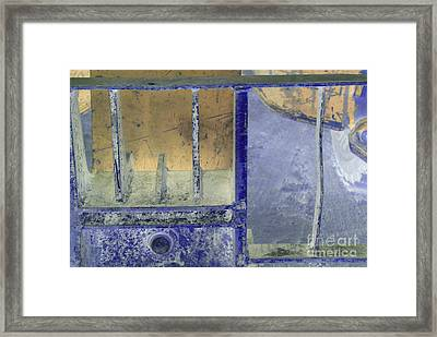 Missing Middle Bar Left Horizontal Peach And Purple Framed Print by Heather Kirk