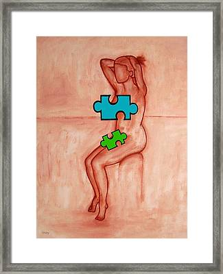 Missing Piece 6 Framed Print by Patrick J Murphy