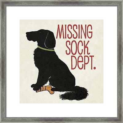 Missing Sock Framed Print by Jo Moulton